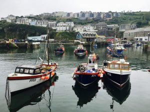 Fishing boats in Mevagissey harbour